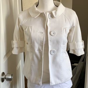Loft White 3/4 sleeve jacket